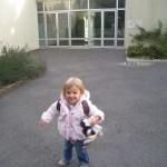 Caroline 1er jour d'école